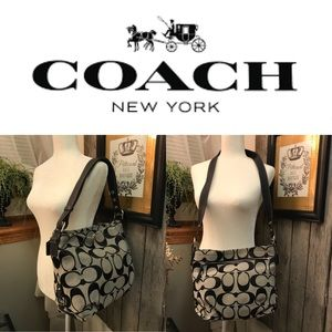 Coach Signature Satchel with Multifunction Strap